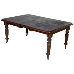 English 19th Century Ebonized Mahogany Dining Table