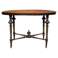 English 19th Century Ebonized Table Dining Centre Console