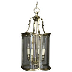 English 19th Century Four Light Convex Antique Hall Lantern