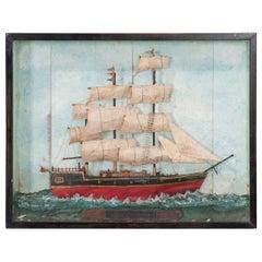 English 19th Century Framed Nautical Diorama