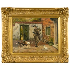 English 19th Century Genre Painting by Charles Hunt Jr, Entitled The Intruder