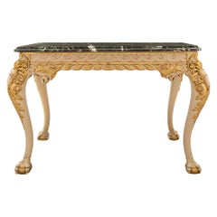 English 19th Century George II St. Giltwood and Marble Center Table