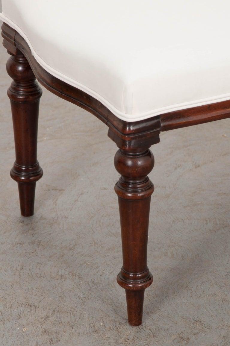 English 19th Century George III Mahogany Upholstered Bench 7