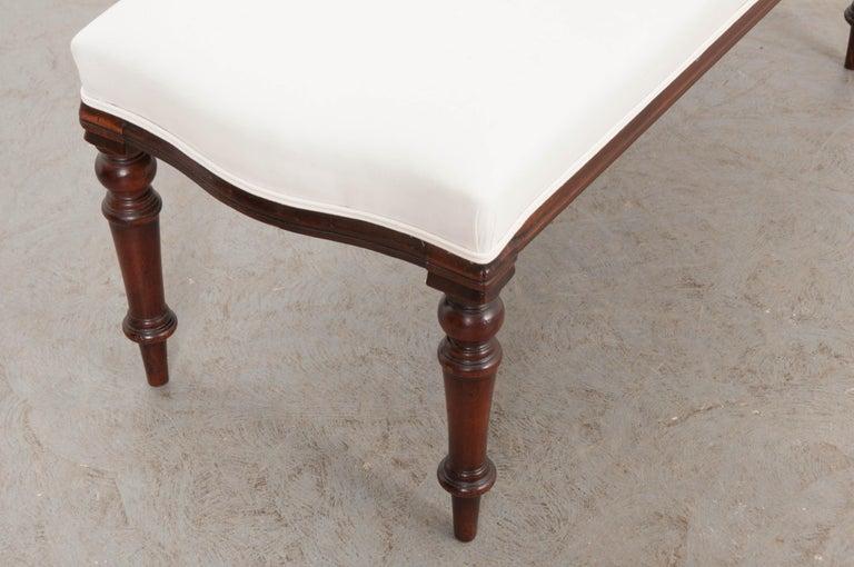 English 19th Century George III Mahogany Upholstered Bench 10