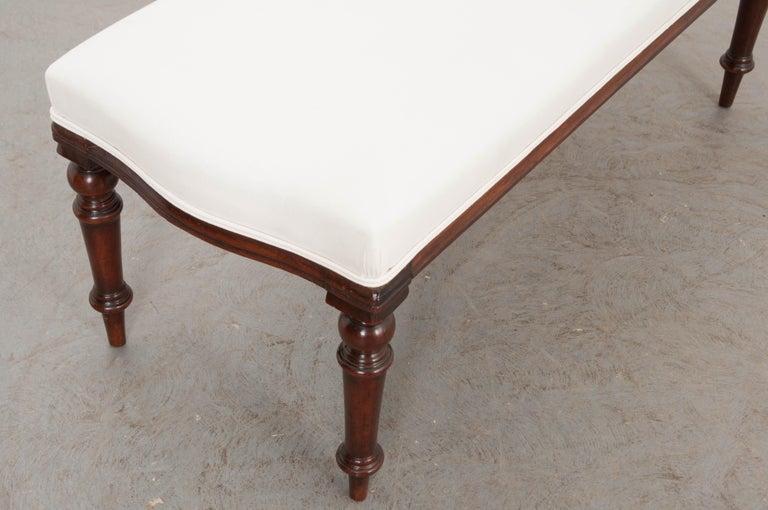 English 19th Century George III Mahogany Upholstered Bench 3
