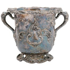 English 19th Century George III Sheffield Silver on Copper Champagne Bucket