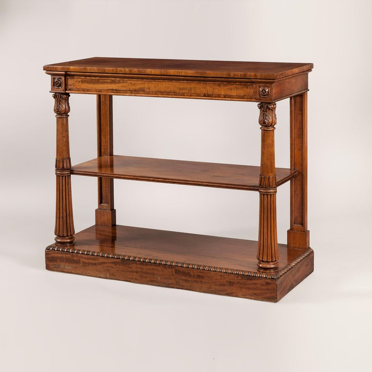 British English 19th Century Mahogany Console Table For Sale