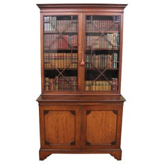 English 19th Century Mahogany Glazed Bookcase