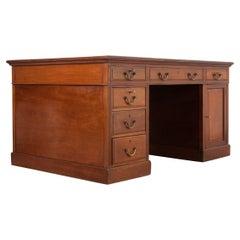English 19th Century Mahogany Partners Desk
