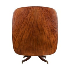 English 19th Century Mahogany Tilt-Top Center Table
