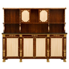 English 19th Century Neoclassical Style Deux Corps Buffet