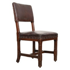 English 19th Century Oak Desk Chair