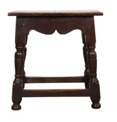 English 19th Century Oak Joint Stool