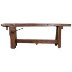 English 19th Century Oak Workbench