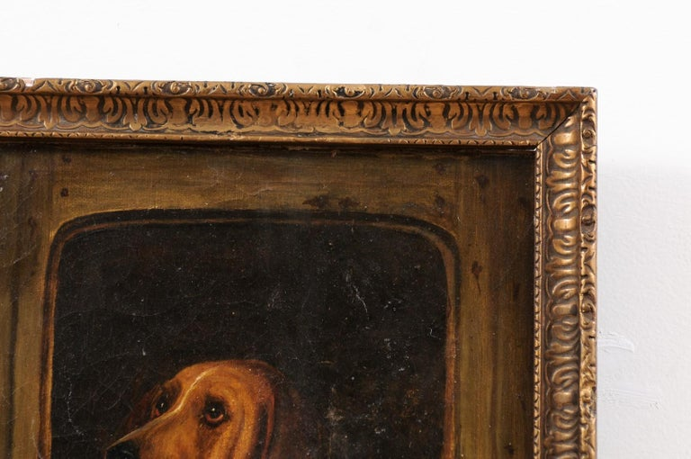 English 19th Century Oil Dog Painting after Landseer's Dignity and Impudence For Sale 1