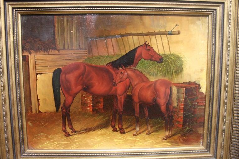 English 19th century oil painting.