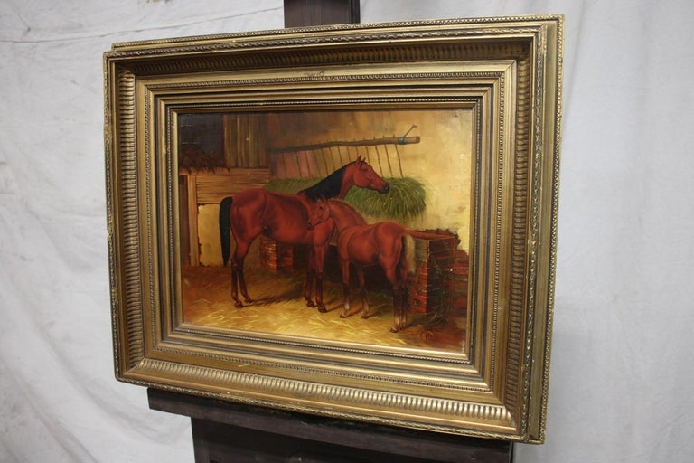 Wood English 19th Century Oil Painting For Sale