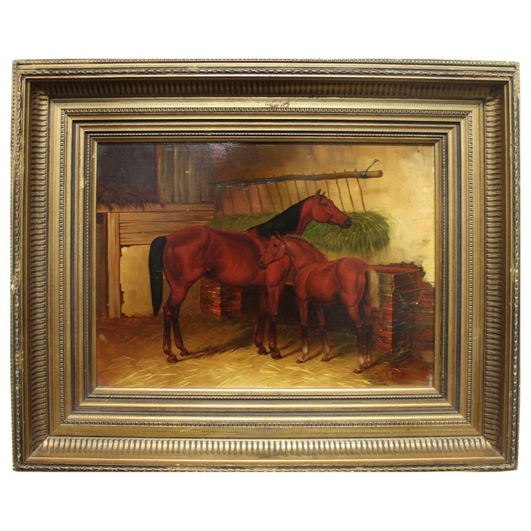 English 19th Century Oil Painting For Sale