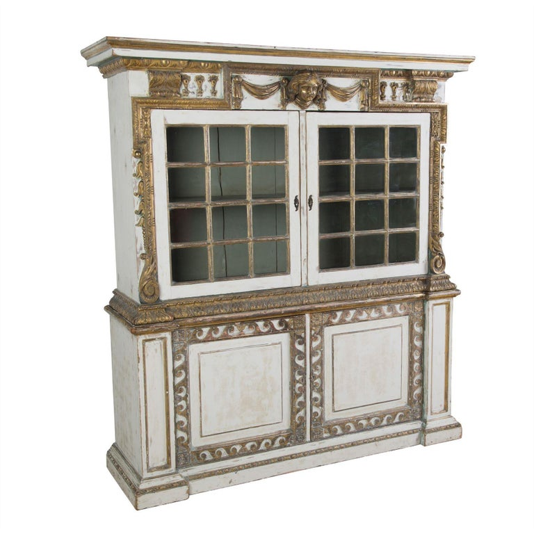 English 19th Century Painted Cupboard In Good Condition For Sale In Gloucestershire, GB