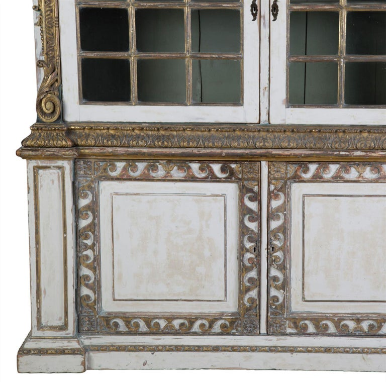 English 19th Century Painted Cupboard For Sale 1