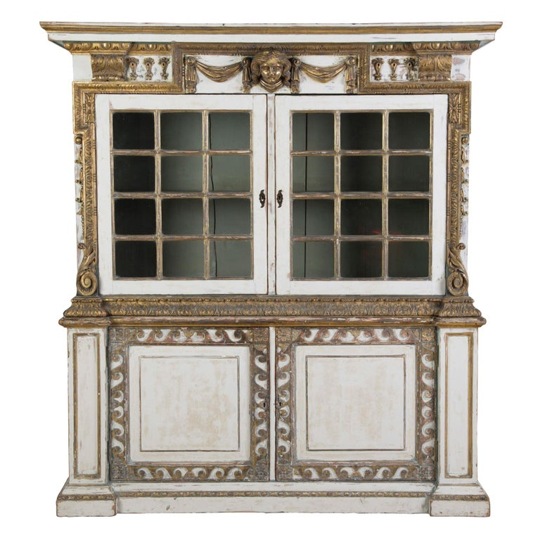English 19th Century Painted Cupboard For Sale