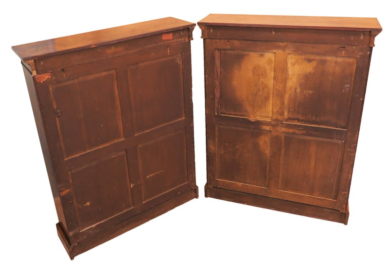 English 19th Century Pair of Burr Walnut Open Bookcases In Good Condition For Sale In Bedfordshire, GB