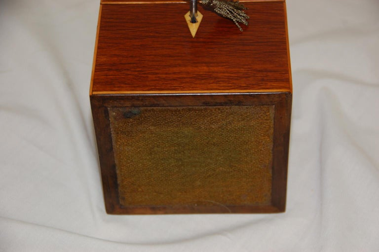 English 19th Century Partridgewood Tea Caddy with Sailing Ship Inlay For Sale 2