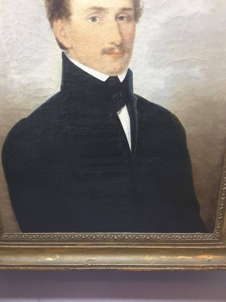 Victorian English 19th Century Portrait of a Gentleman For Sale