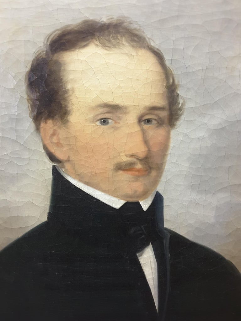 English 19th Century Portrait of a Gentleman In Good Condition For Sale In Ottawa, Ontario
