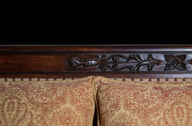 Carved English 19th Century Antique Sofa