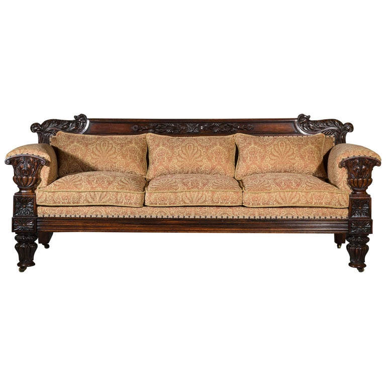 English 19th Century Antique Sofa