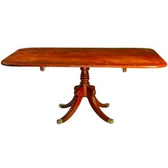 English 19th Century Regency Mahogany Breakfast Table