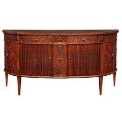 English 19th Century Regency Mahogany Sideboard Buffet