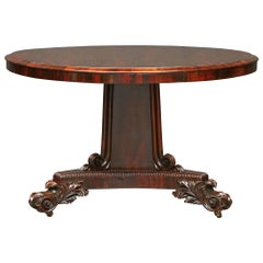 English 19th Century Regency Rosewood Circular Center Table