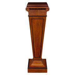 English 19th Century Regency Style Satinwood Pedestal Column