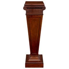 English 19th Century Regency Style Mahogany Pedestal Column