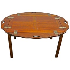 English 19th Century Stained Walnut Butler's Tray Table