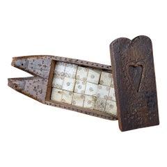 English 19th Century Treen Domino Set
