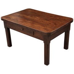 English 19th Century Walnut and Oak Low Table