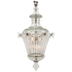 English 19th Century Waterford Crystal Lantern