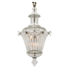 English 19th Century Waterford Crystal Lantern