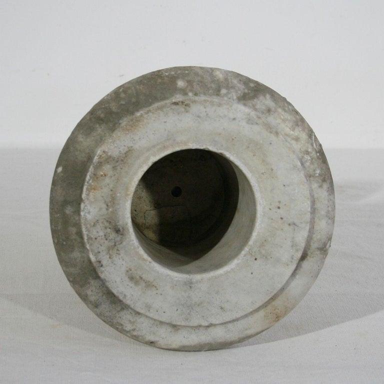English, 19th Century White Marble Garden Urn For Sale 2