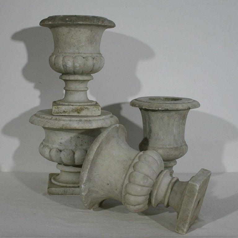 English, 19th Century White Marble Garden Urn For Sale 4