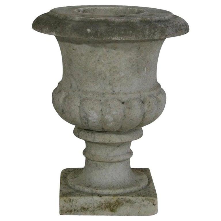 English, 19th Century White Marble Garden Urn For Sale