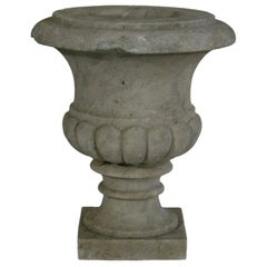English 19th Century White Marble Garden Urn