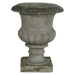 English, 19th Century White Marble Garden Urn