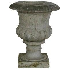English, 19th Century White Marble Garden Urn