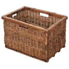 English 19th Century Wicker Basket