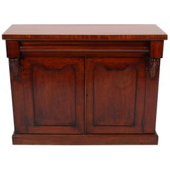 English 19th Century Wooden Mahogany Sideboard and Storage Cabinet