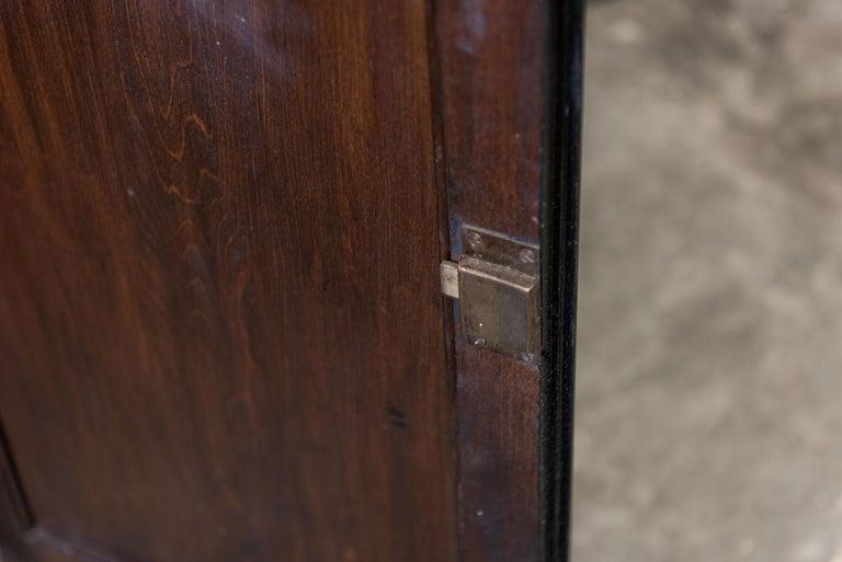 English 19th Century Ebonized Glazed Bookcase For Sale 3